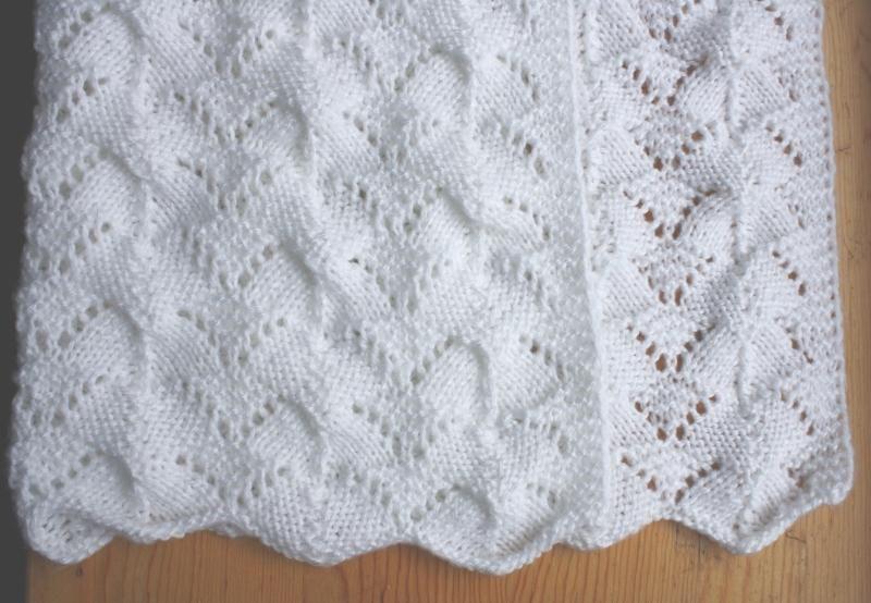 Reversible Lace Baby Blanket | Tejidos-palitos | Pinterest | Blanket ...