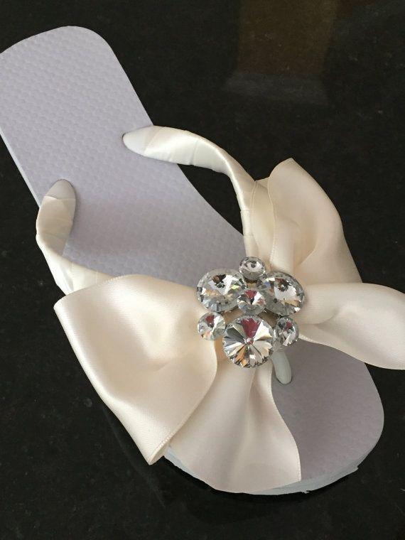 60dcb75bac8b39 BRIDAL Flip Flops Wedges.Wedding Flip Flop Wedding Shoes Bridal ...