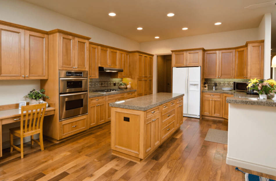 30 beautiful kitchens with wood flooring design ideas