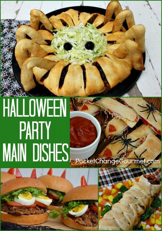 Dinner Party Main Course Ideas Part - 37: Halloween Party Main Dishes On PocketChangeGourmet.com Halloween Party Food  And Drink, Halloween Parties
