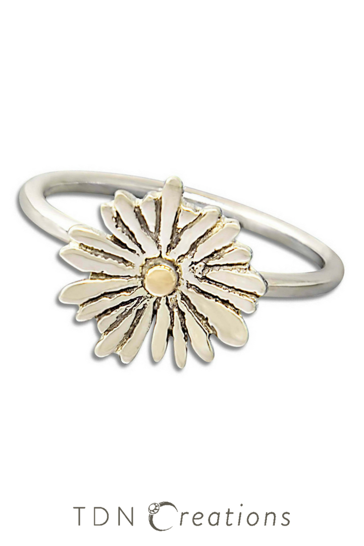 Daisy flower ring silver and gold ring do you want this style daisy flower ring silver and gold ring do you want this style izmirmasajfo Image collections