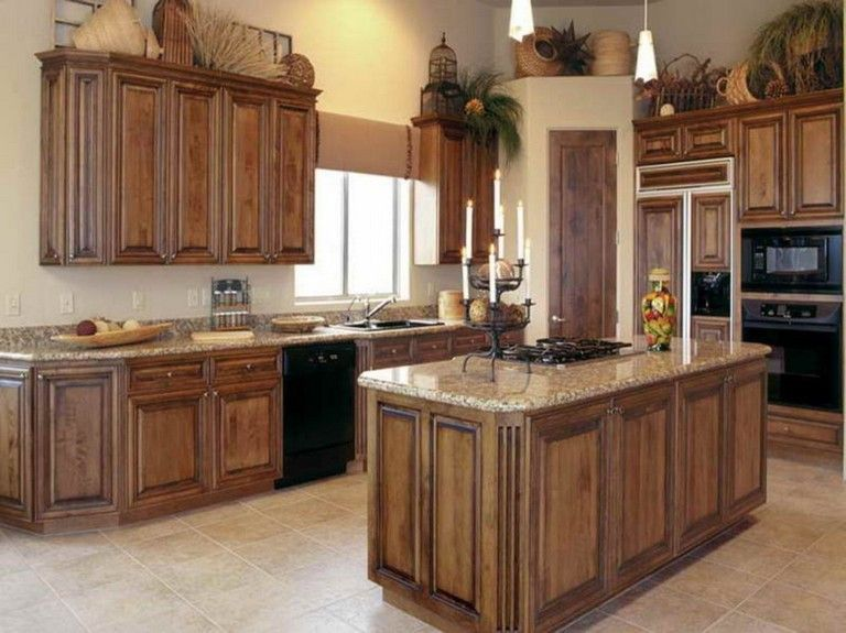 59+ EASY AND STYLISH OLD KITCHEN CABINET IDEAS   Stained ...