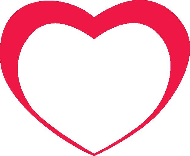 Red Outline Heart Png Image Download Heart Outline Outline Clip Art