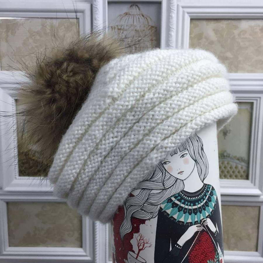 Patrón de gorro de lana o Boina | Bebe punto | Pinterest | Lana ...