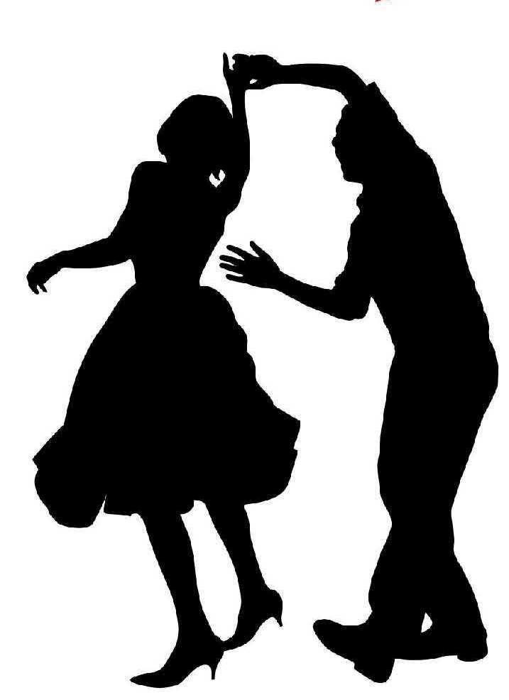 Arte Del Clip De Baile Swing De Dfw Dance Silhouette