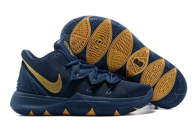 "d2e74d387558 Nike Kyrie 5 ""Philippines"" Navy Blue Metallic Gold Shoes Price in ..."