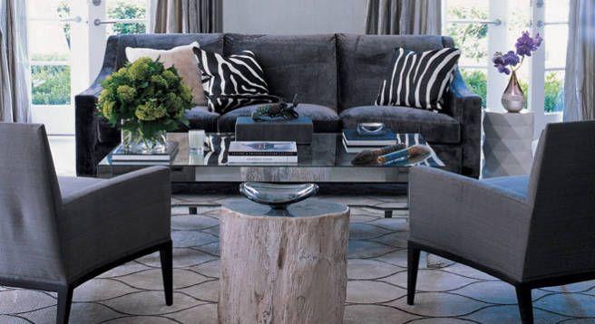 Monique Lhuillier Home - Gray Interior Design Of Designer Monique Lhuillier - ELLE DECOR