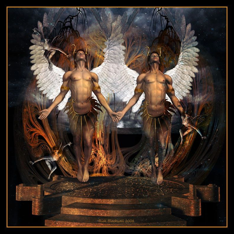 демонические картинки близнецов всегда требуется