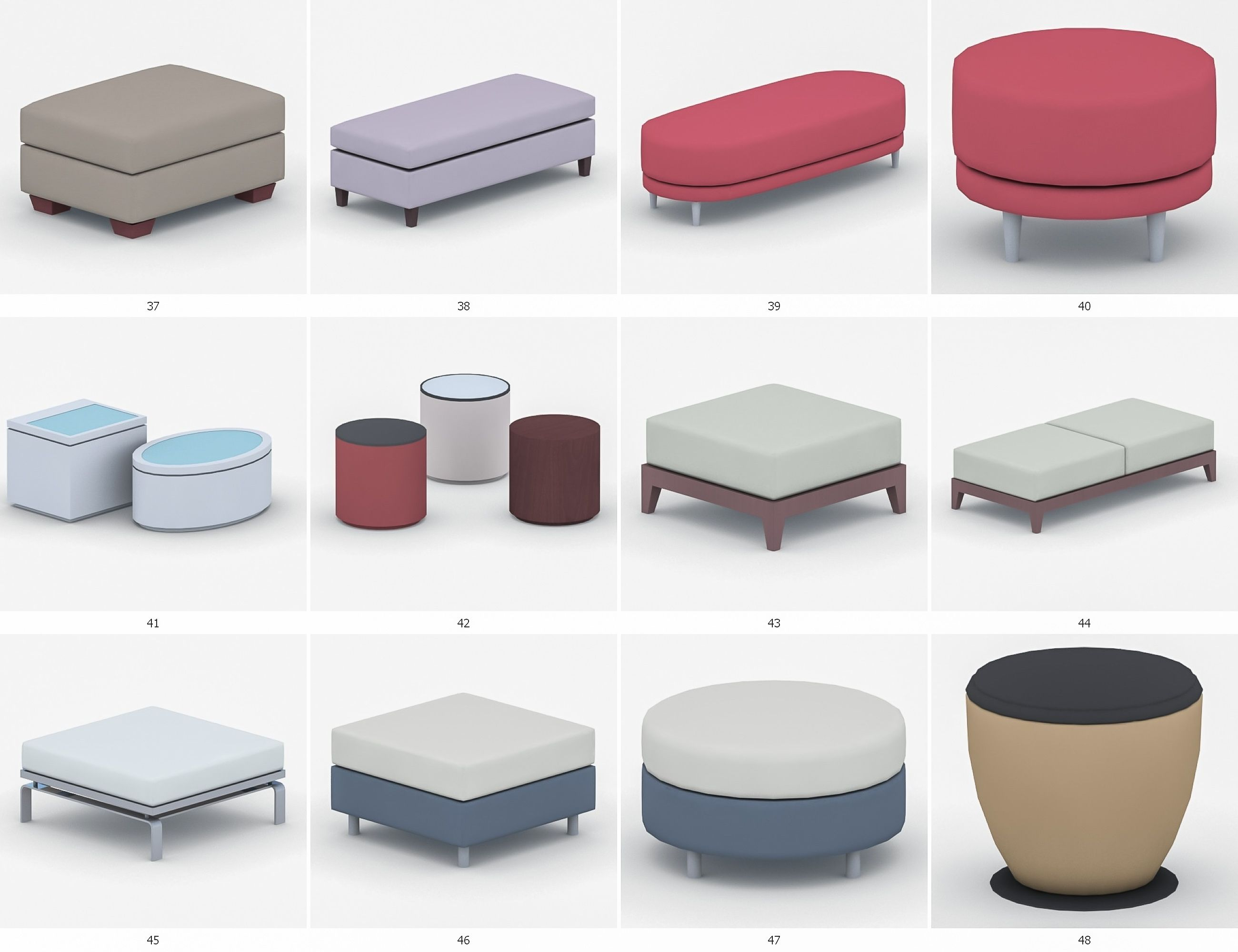 Strange Ottomans And Poufs Collection 50 Products Poufs Short Links Chair Design For Home Short Linksinfo