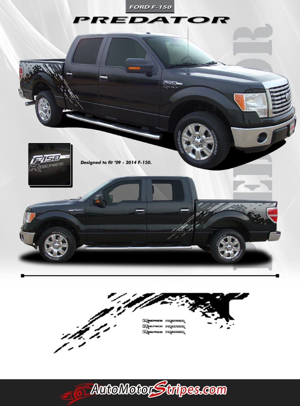 2014 Ford F 150 Stx Configurations : configurations, F-150, Predator, Factory, Style, Raptor, Mudslinger, Vinyl, Decal, Graphic, Stripes, F150,, Decals,