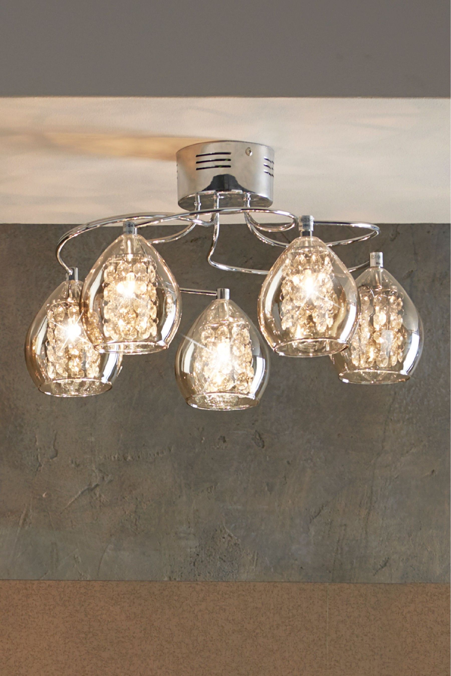 new style a325f 9921c Next Bella 5 Light Flush Fitting - Chrome | Products ...