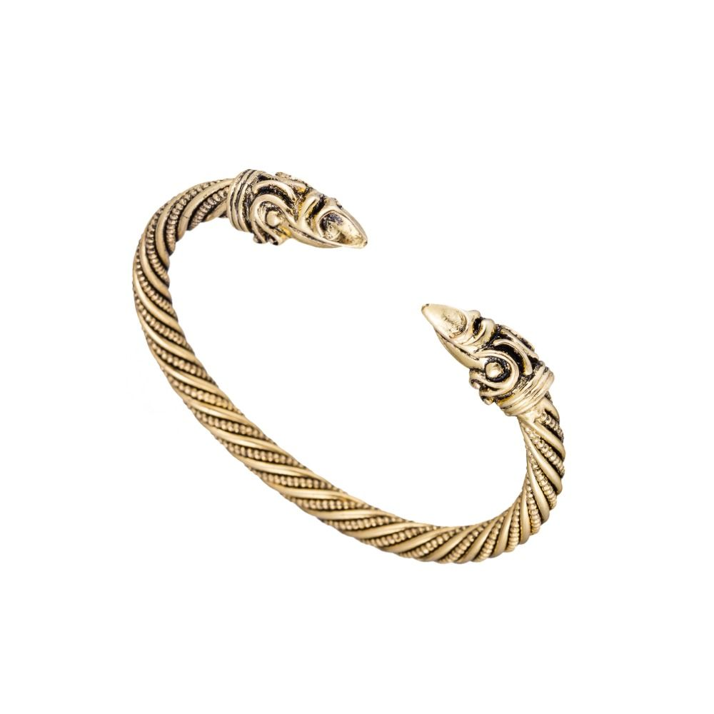 Viking bracelet male pagan jewellery goldcolor bangle best viking