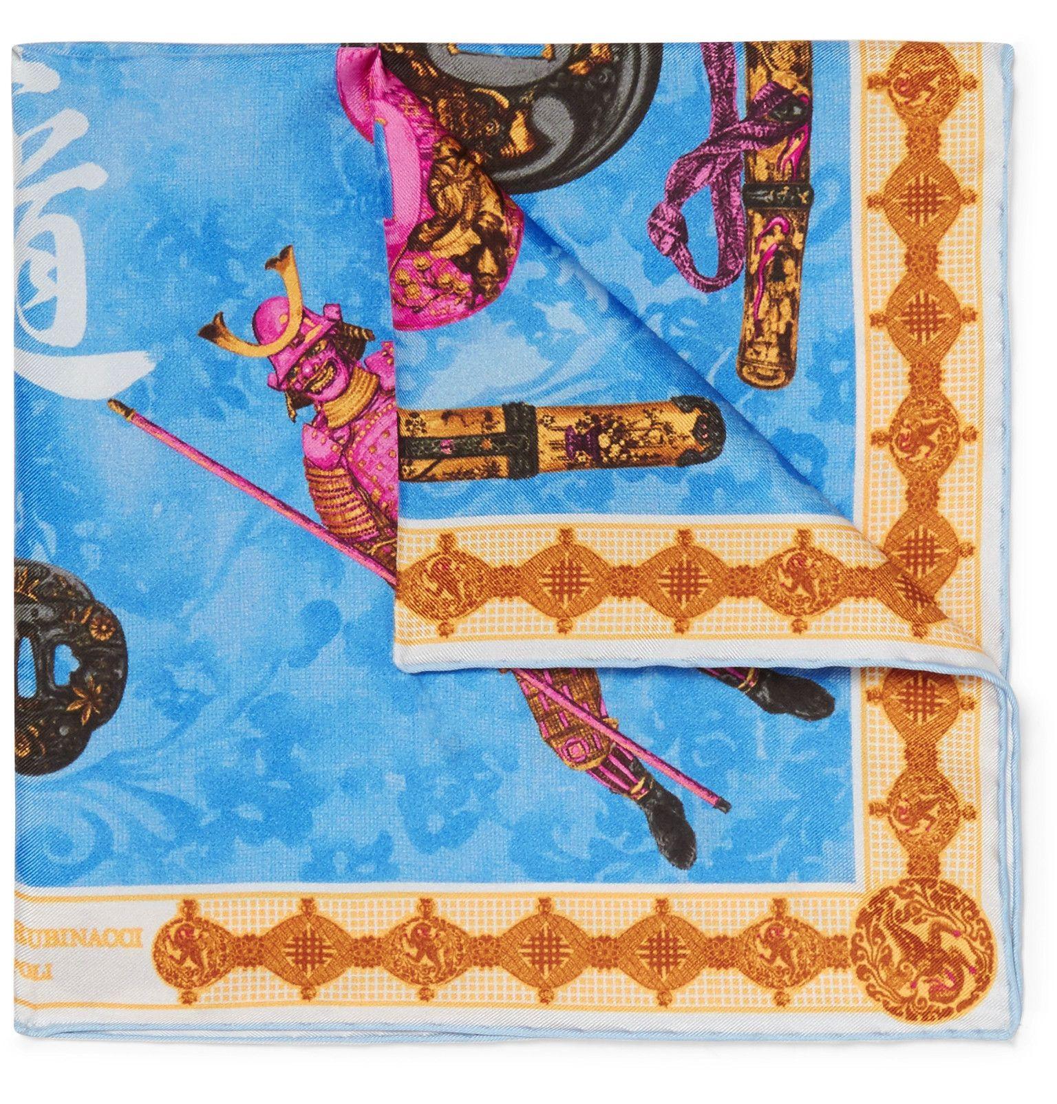 Printed Silk-twill Pocket Square Rubinacci 99Opl