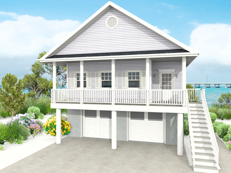 Modular beach houses on stilts faq contact bayview for Beach house plans on stilts