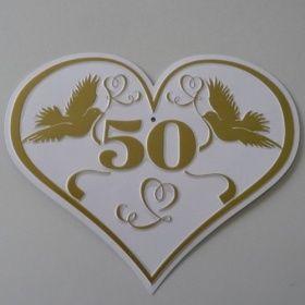 Dekoraum Goldene Hochzeit Blechschild In Herzform Schild