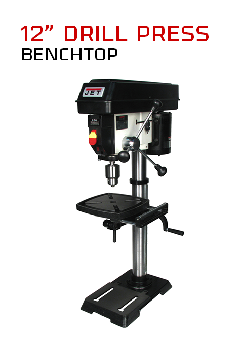 Jet 12 Benchtop Drill Press 499 99 Drill Press Woodworking Drill Press Drill