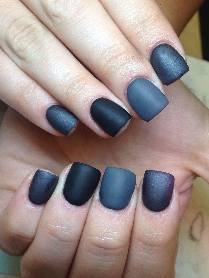 gray matte and black acrylic gel nails | Nails | Pinterest | Acrylic gel