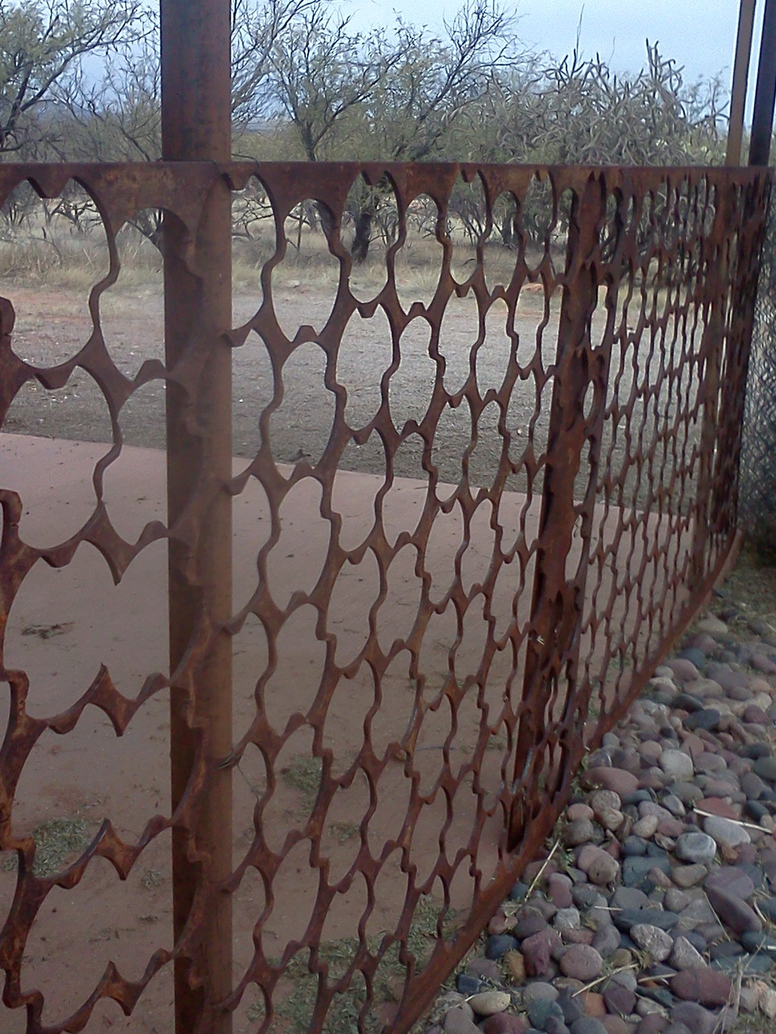 Using Sheets Of Scrap Metal As A Fence Rental 356 Pinterest