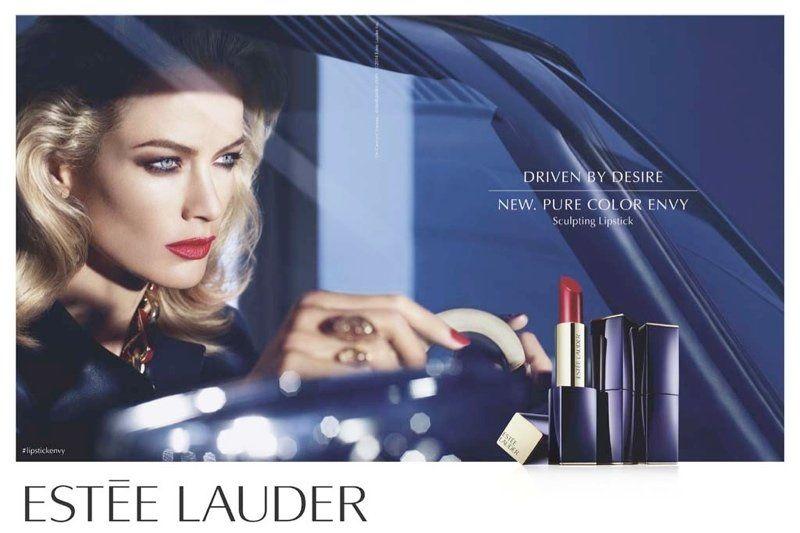 Carolyn Murphy for Estee Lauder Pure Color Envy Sculpting lipstick shot by  Mario Sorrenti. #EsteeLauder   Estee lauder pure color envy, Pure color envy,  Estee