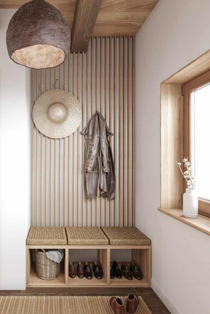 Photo of Stylish Mudroom Design Inside House CZ Downstairs by Ruda Studio
