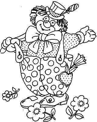 Coloring pages for kids to print - Clowns and circus coloring page ...