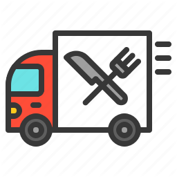 Commerce Fast Food Food Shop Transport Truck Icon Download On Iconfinder Truck Icon Fast Food Transportation