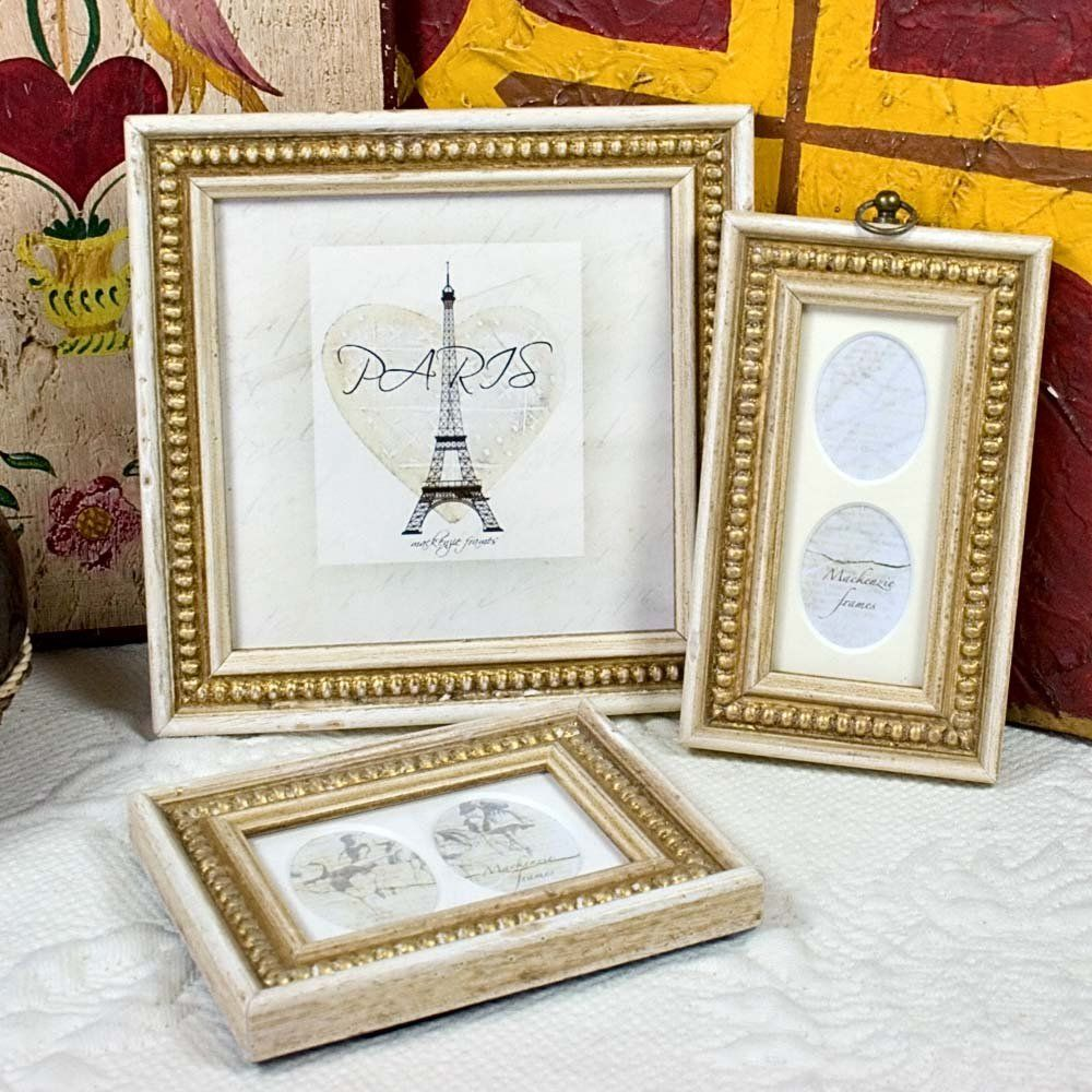 6x6 Inch Frame With 5x5 Inch Mat Old White Gold Boules Photo Frame In Antique Style For Wedding Office Desktop I Frame Crown Picture Frame Shabby Chic Frames