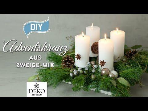 DIY: Adventskranz Aus Naturmaterial Mit Moos U0026 Zweigen [How To] Deko  Kitchen