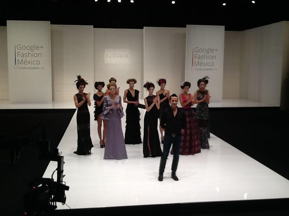 """Google Plus Fashion México 13 desfile de """"Let them eat cake"""" del diseñador Mexicano Noé Roa"""