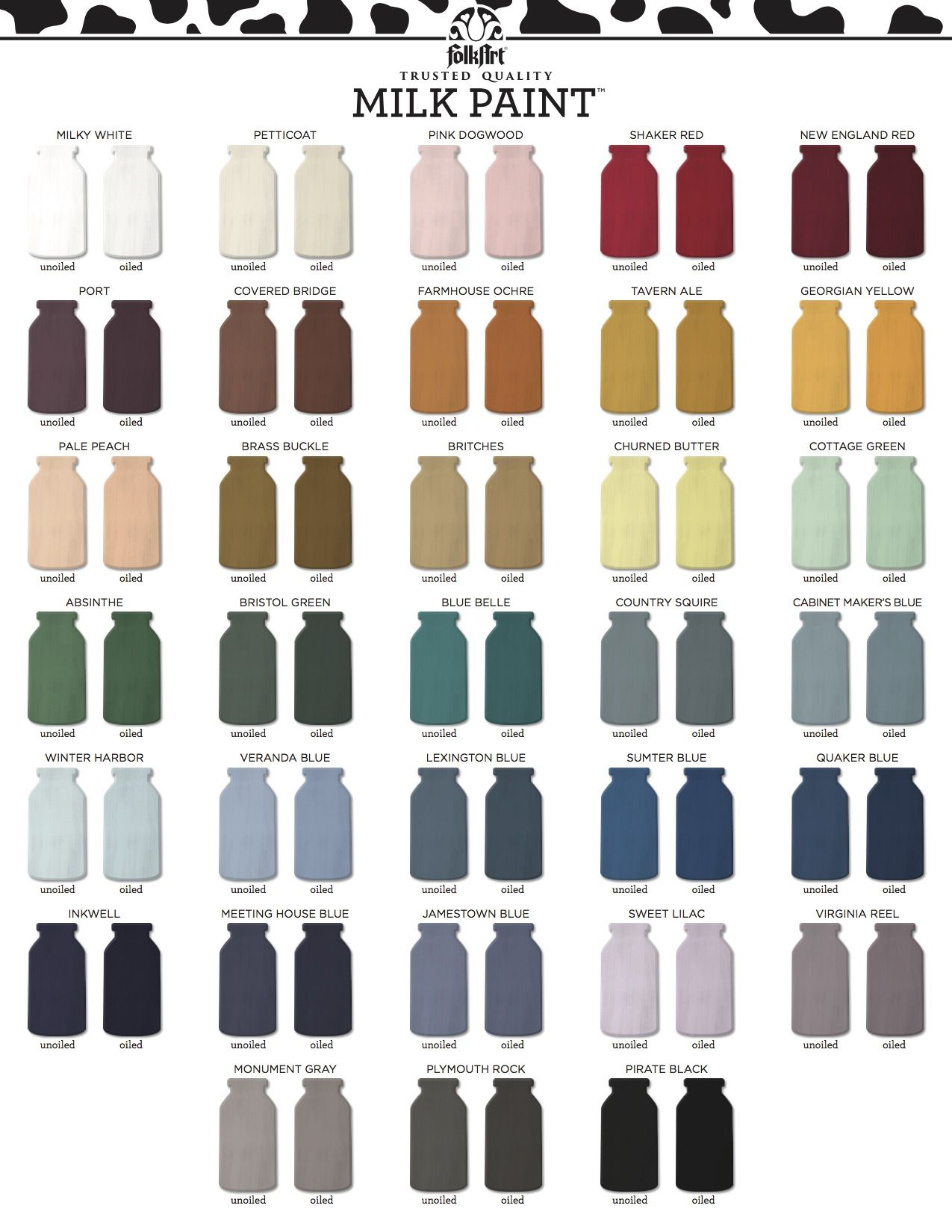 Folkart Milk Paint Color Chart Milk Paint Furniture Milk Paint Colors Milk Paint