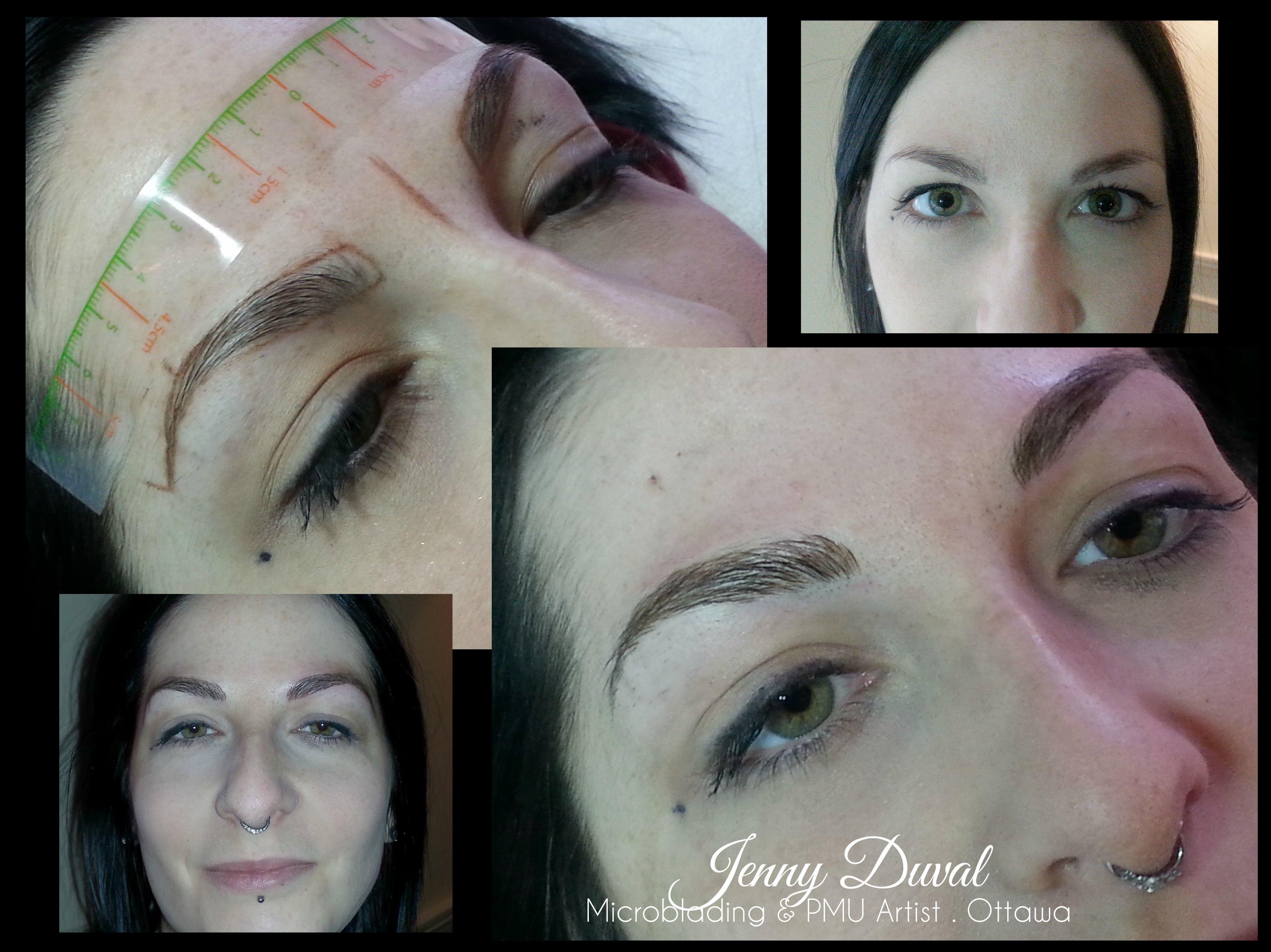 Microblading - Eyebrow Embroidery  Ottawa, Ontario - Canada Please like my Facebook page : https://www.facebook.com/Jenny-Duval-Microblading-PMU-Artist-Ottawa-921848467885712/