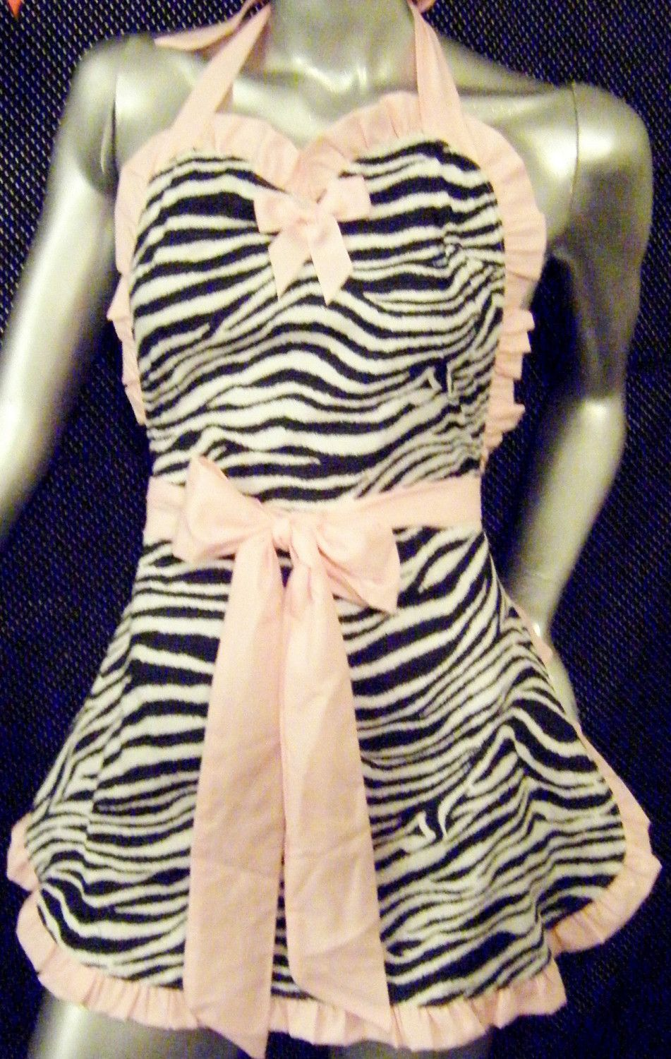PLUS Size Apron,  ZEBRA Print,Pin-up, Retro,50's, Rockabilly, Zebra,Fits 3-XXL by UnderTheVeil on Etsy