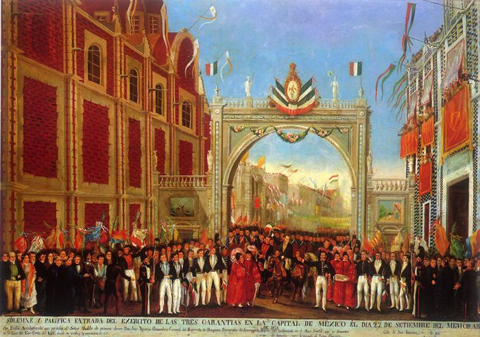 Consumacion De La Independencia 27 Septiembre De 1821 Mexican War Of Independence Mexican War Mexico City