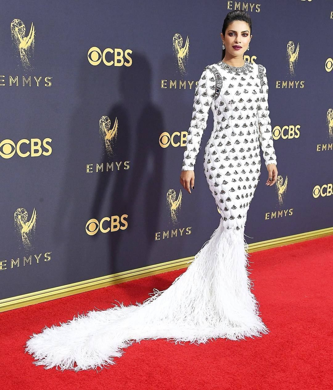 Priyanka Chopra at Emmys 2017 | exquisite pc | Pinterest