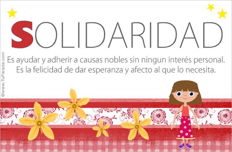 Solidaridad - Frases positivas | Valores | Pinterest ...