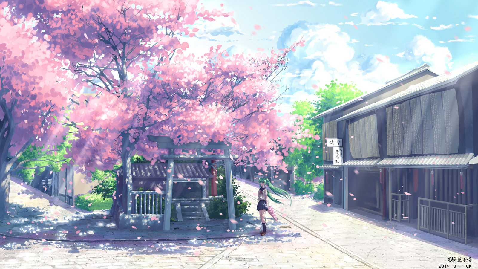 Anime Scenery Cherry Blossoms Background Hd Images 1 28214060692 O Anime Backgrounds Wallpapers Anime Scenery Anime Cherry Blossom