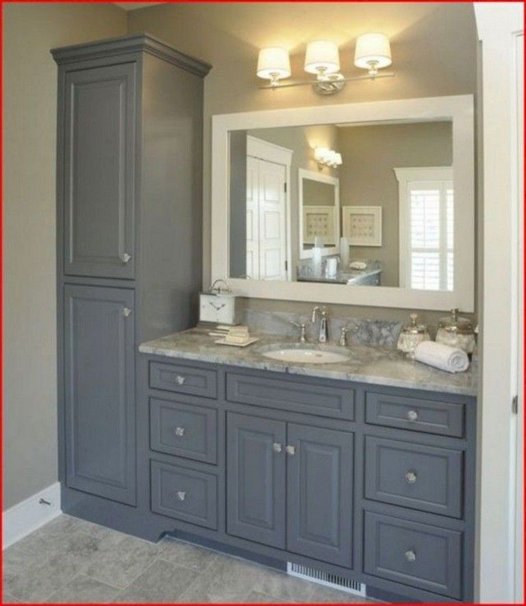 45 Top Bathroom Vanity Ideas Home Page 37 Of 47 Bathroom Vanity Storage Bathroom Remodel Master Farmhouse Master Bathroom