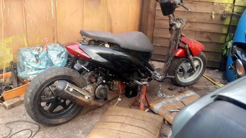 Yamaha Jog 50cc Stripped & Stretched | Scooter Shack Scooter