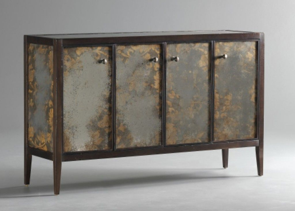 Mirrored Fabric Buffet From Cr Currin Contemporary Dining Room