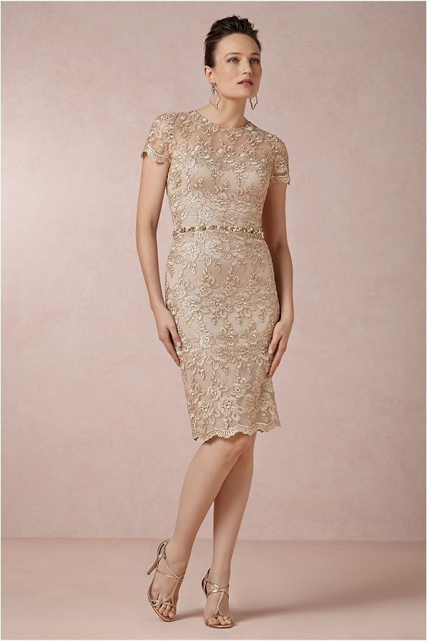Shined Lace Shift in Bridal Party | BHLDN