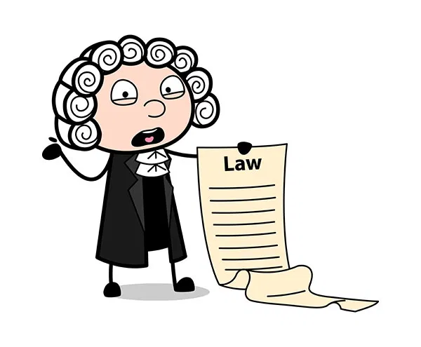 Magistrate Presenting A Law Rules List Vector Illustration