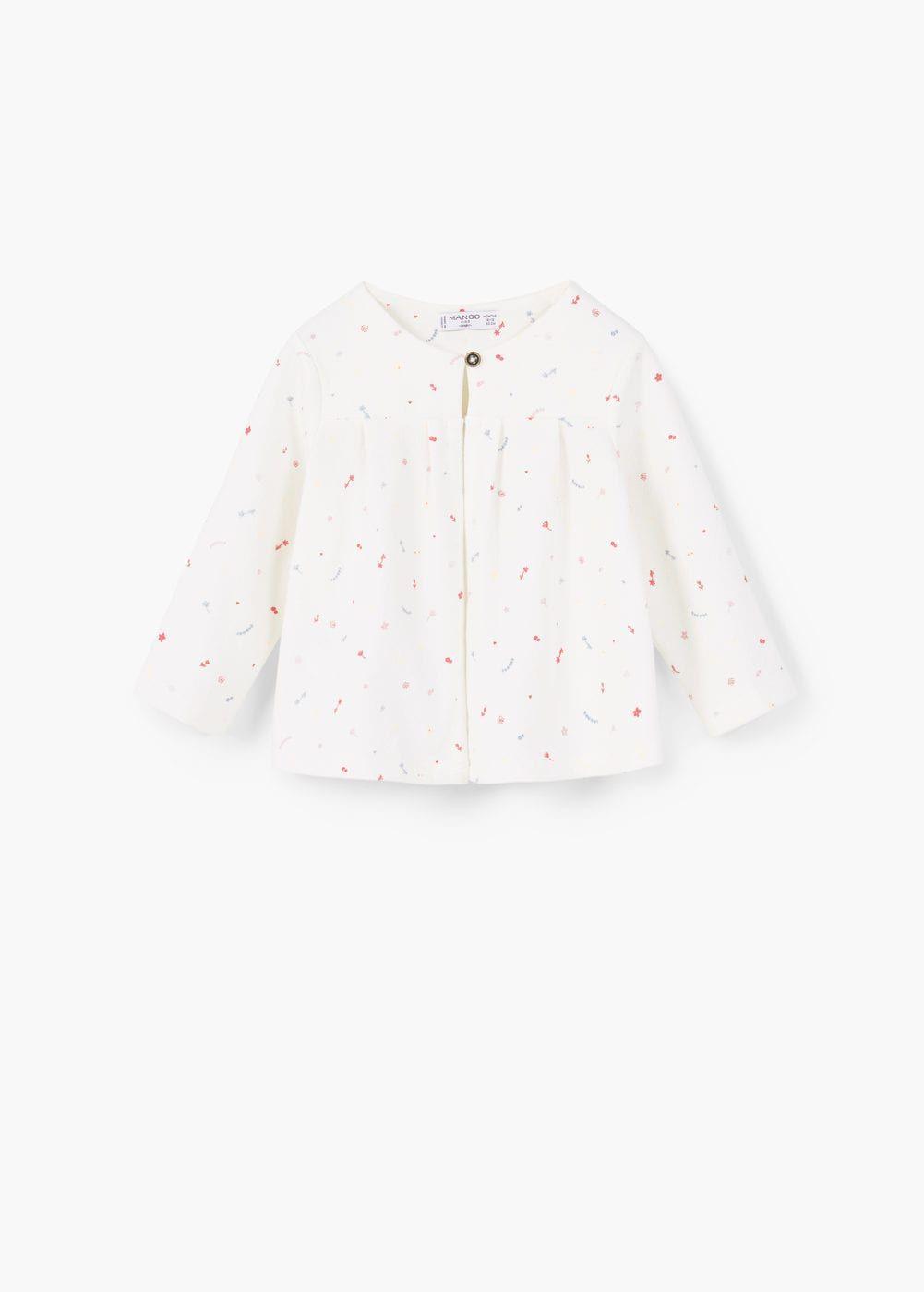 Printed cotton jacket | MANGO KIDS