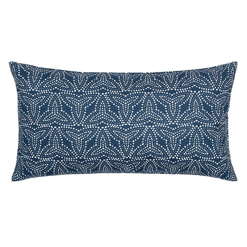 The Trillium Navy Throw Pillow Throw Pillows Decorative Throw Pillows Feather Pillows