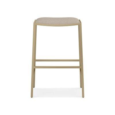 Cool Dessau Backless Counter Stool Chunky Linen Natural Machost Co Dining Chair Design Ideas Machostcouk