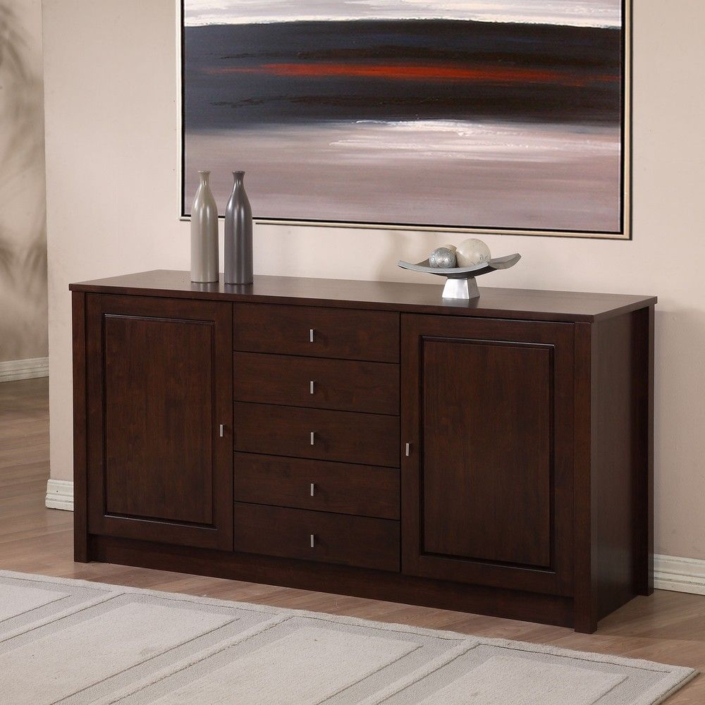 Tribeca 2 Door 5 Drawer Buffet Overstock Com Sideboard