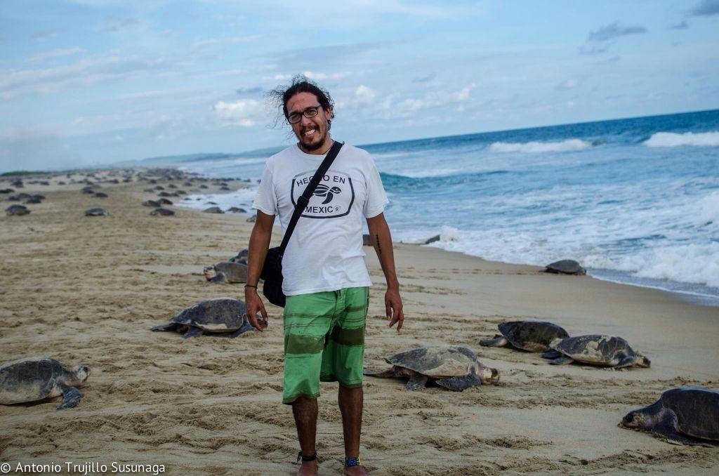 En Escobilla, Oaxaca, México.... Disfrutando de la arribada de tortugas golfinas...