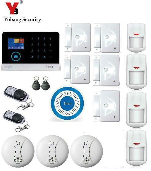 Yobang Security 3g Wifi Alarm System Sms Wireless Home Security Alarm Kits Blue Flash Siren Support Security Alarm Alarm Systems For Home Home Security Alarm