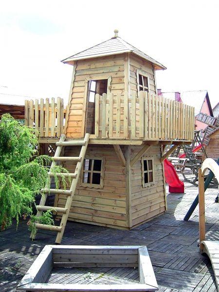 Awesome Kinderspielhaus Euro xcm Spielturm Baumhaus als Leuchtturm Lars