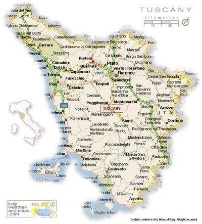 Map Of Tuscany Italy From Www Italy Weather And Maps Com Con