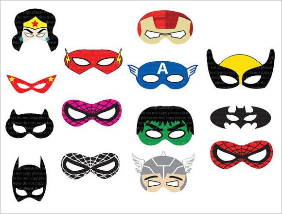 Superhero Mask Template   Download Documents In Psd  Pdf